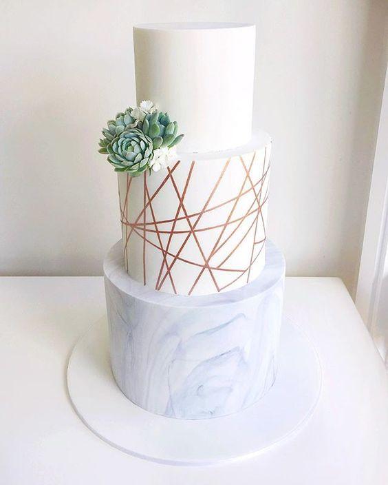 23 Unique and Elegant Marble Wedding Cake Ideas ...