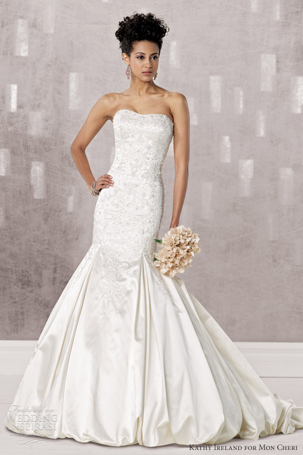 Kathy Ireland For Mon Cheri Fall 2012 Wedding Inspirasi
