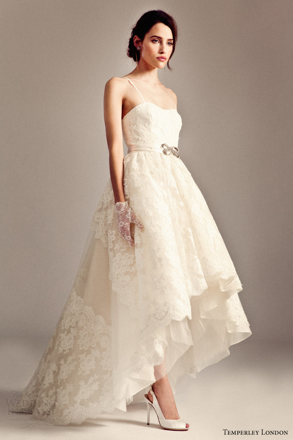 Hi Low Wedding Gowns Straps