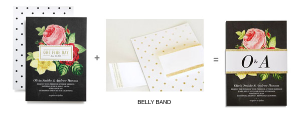 Wedding Paper Divas Diy Invitation Cards With Belly Bands