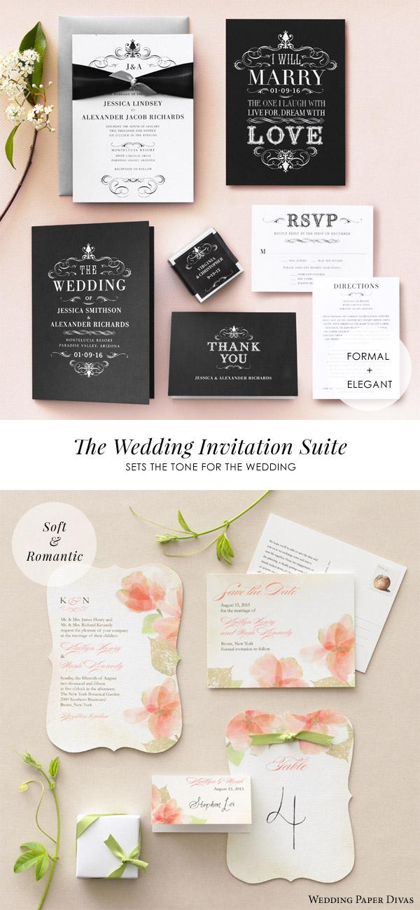 Wedding Paper Divas Invitation Suite Cards Formal Elegant Haute Heraldry Soft Romantic Softly Gilded Invites