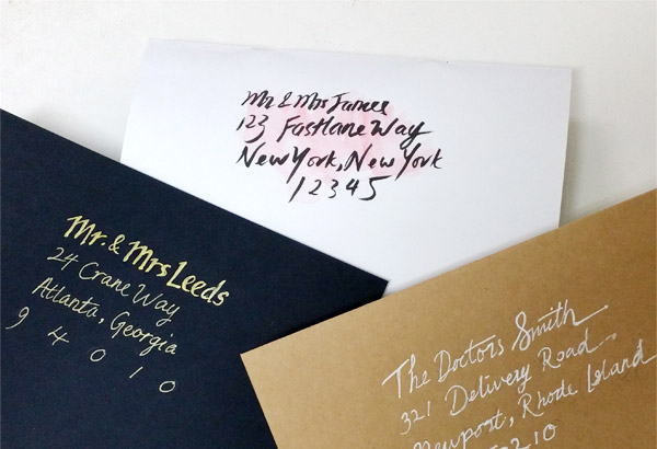 Diy Faux Calligraphy