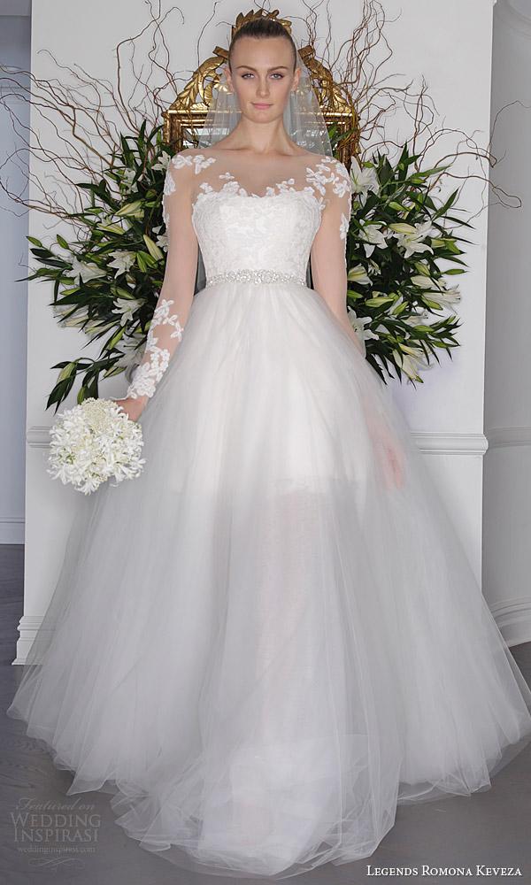 3ccb20fec9fa legends romona keveza fall 2016 a line mini wedding dress long sleeve  illusion bodice detachable ball
