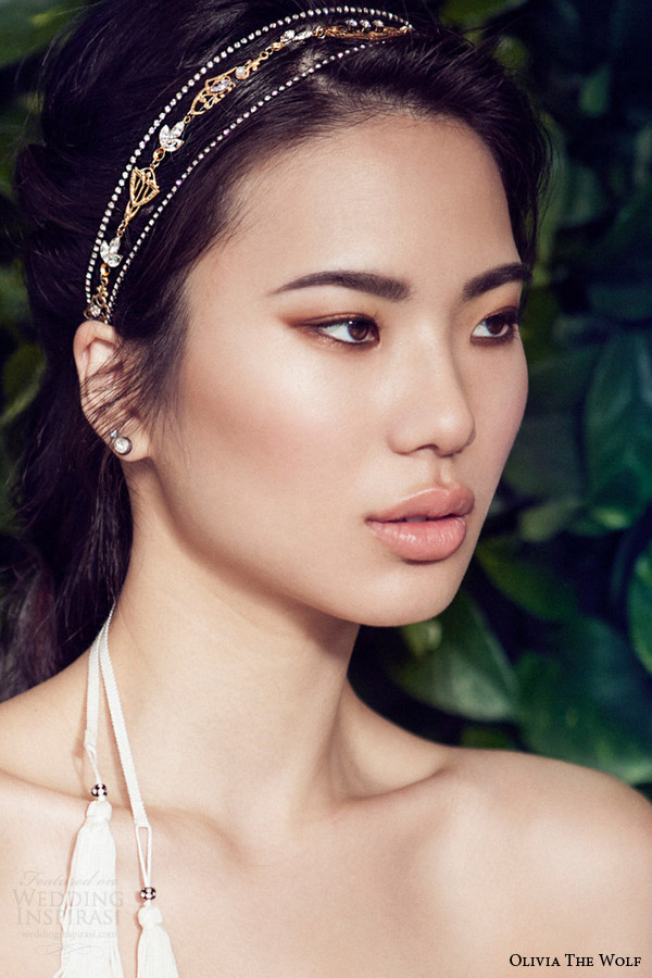 olivia the wolf headpieces 2016 bridal accessories mila ornament headband vintage gold bride hair
