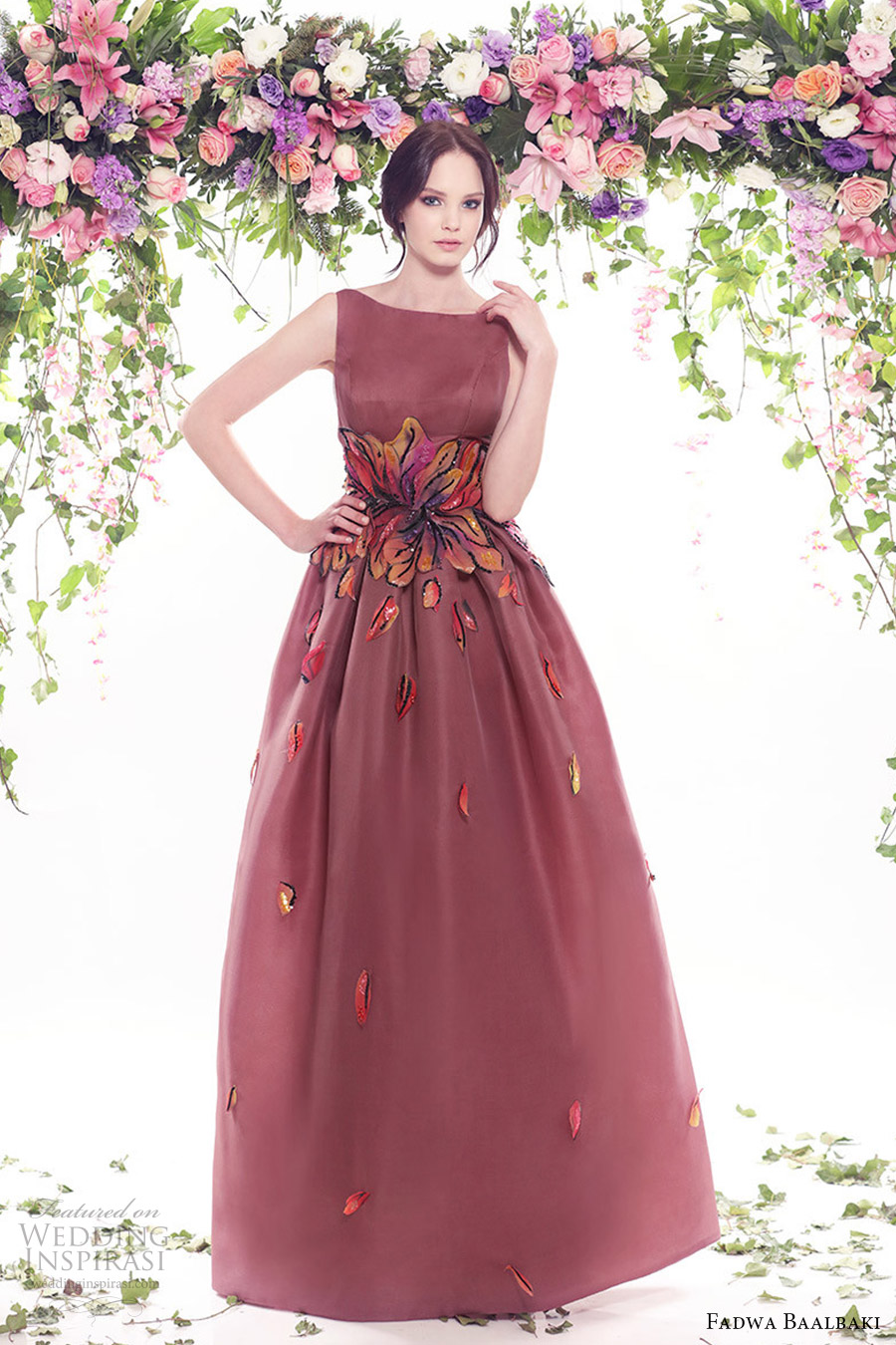 fadwa baalbaki spring 2016 couture sleeveless sabrina neckline dress mv