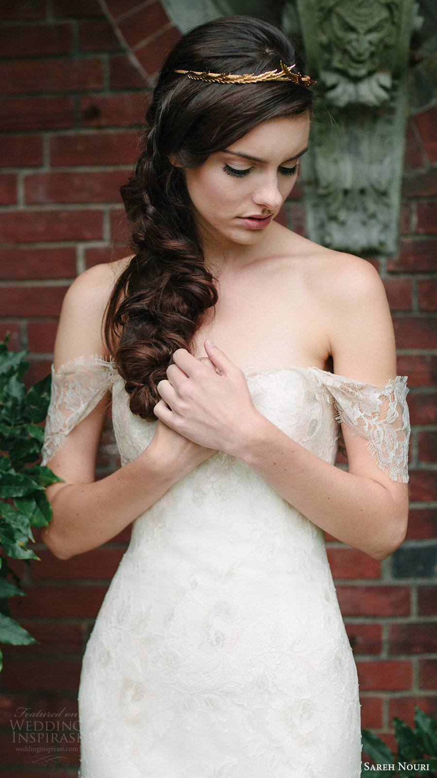 sareh nouri bridal fall 2016 off shoulder sweetheart trumpet lace wedding dress (tala) zv romantic elegant