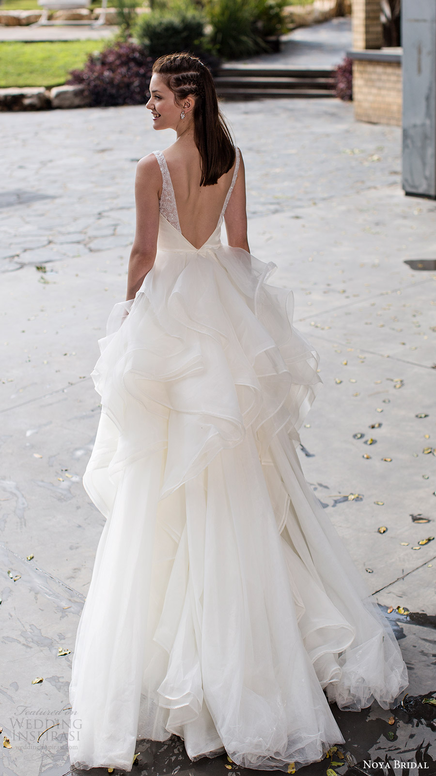 noya bridal 2016 sleeveless straps vneck aline ball gown wedding dress (1209) romantic princess bv
