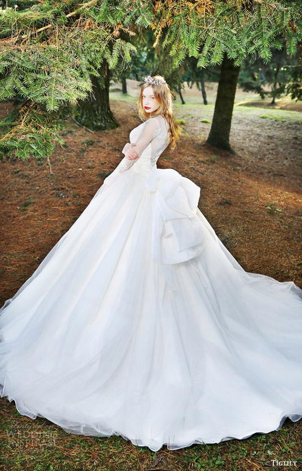 7dcbf78cf506d tiglily bridal 2016 long sleeves ball gown wedding dress (fiona) mv  romantic elegant train
