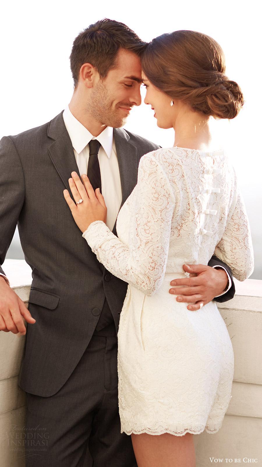 vow to be chic 2016 encore watters prato lace wedding romper suit