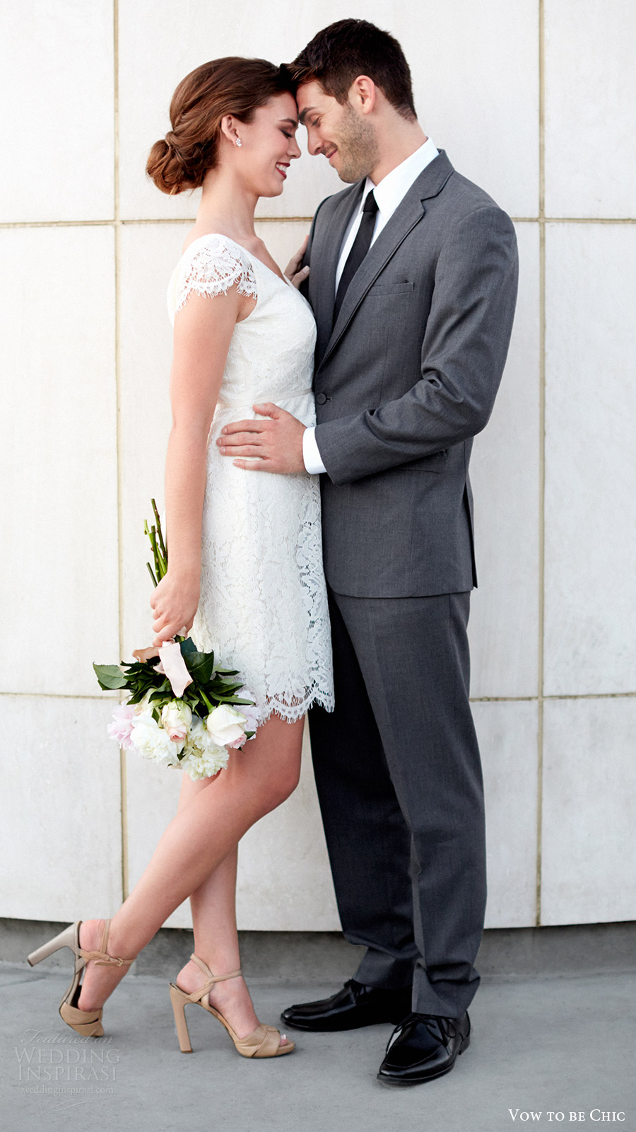 vow to be chic 2016 jenny yoo bridgette little white wedding dress for rent
