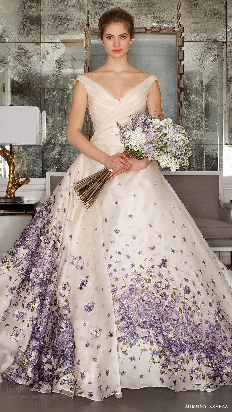 romona keveza bridal spring 2017 strapless sweetheart trumpet wedding dress (rk7408) off shoulder vneck ball gown wedding dress (rk7409) mv violet color print