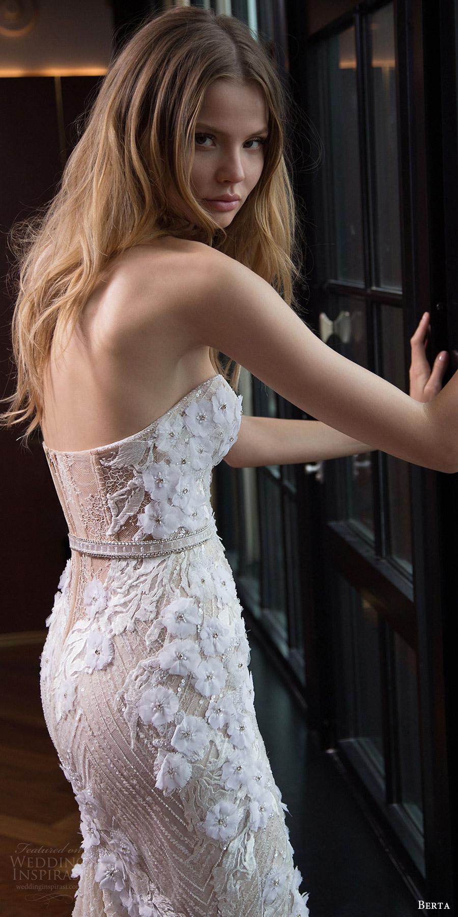 berta bridal fall 2016 strapless sweetheart trumpet wedding dress (16 104) bv