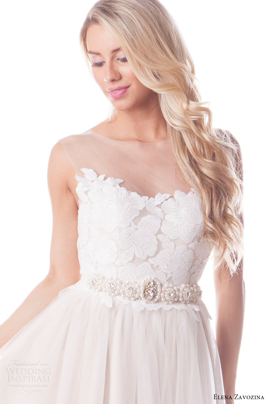 elena zavozina bridal accessories 2016 wedding pearl belt (elena) fv