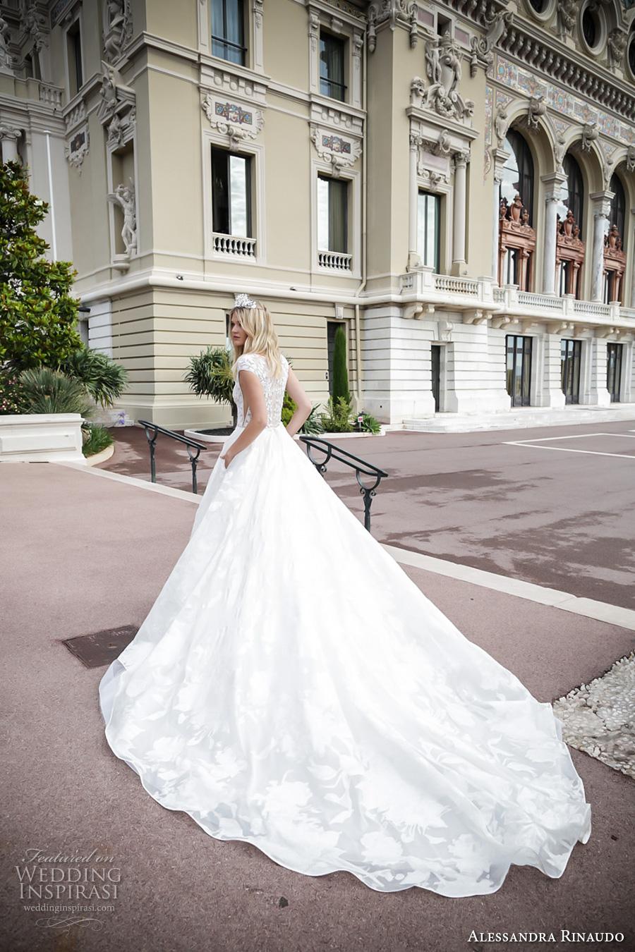 alessandra rinaudo 2017 bridal cap sleeves bateau neckline floral heavily embellished bodice romantic princess a  line wedding dress with pockets lace back royal long train (4) bv