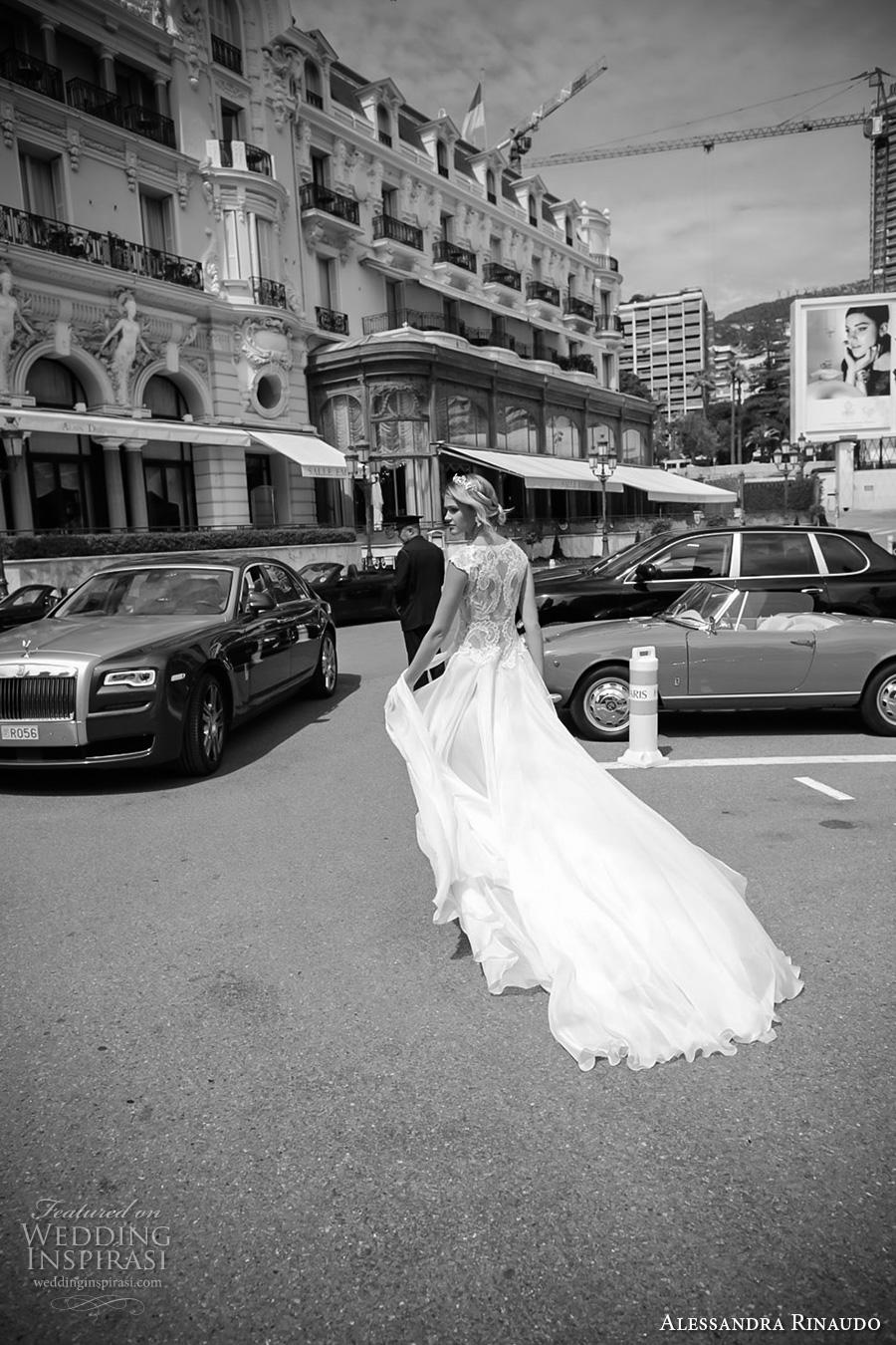 alessandra rinaudo 2017 bridal cap sleeves bateau neckline heavily embellished bodice sexy slit a  line wedding dress lace back chapel train (6) bv