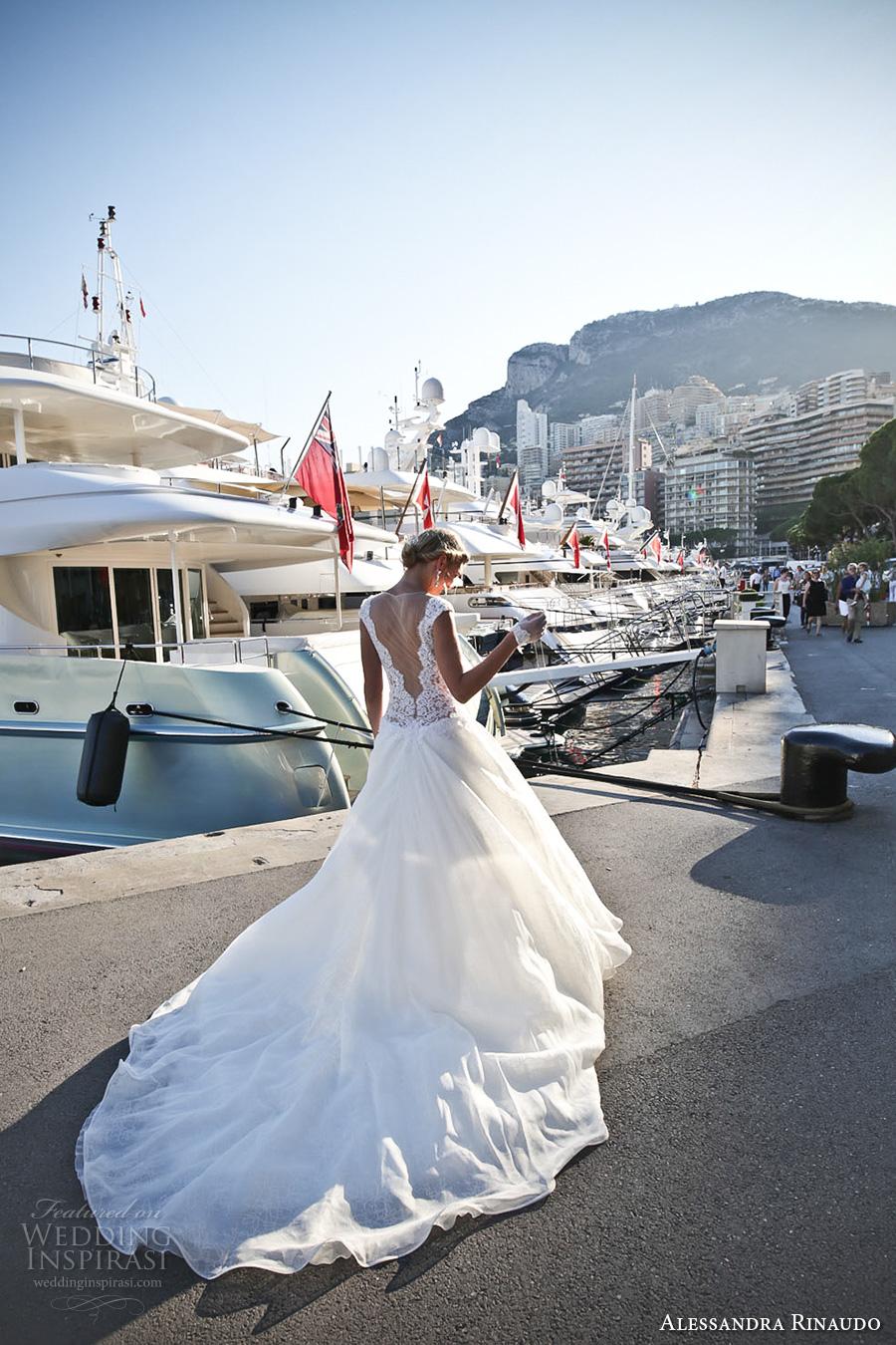 alessandra rinaudo 2017 bridal cap sleeves illusion bateau deep plunging v neck lace heavily embellished bodice princess a  line wedding dress v back royal chapel train (22) bv