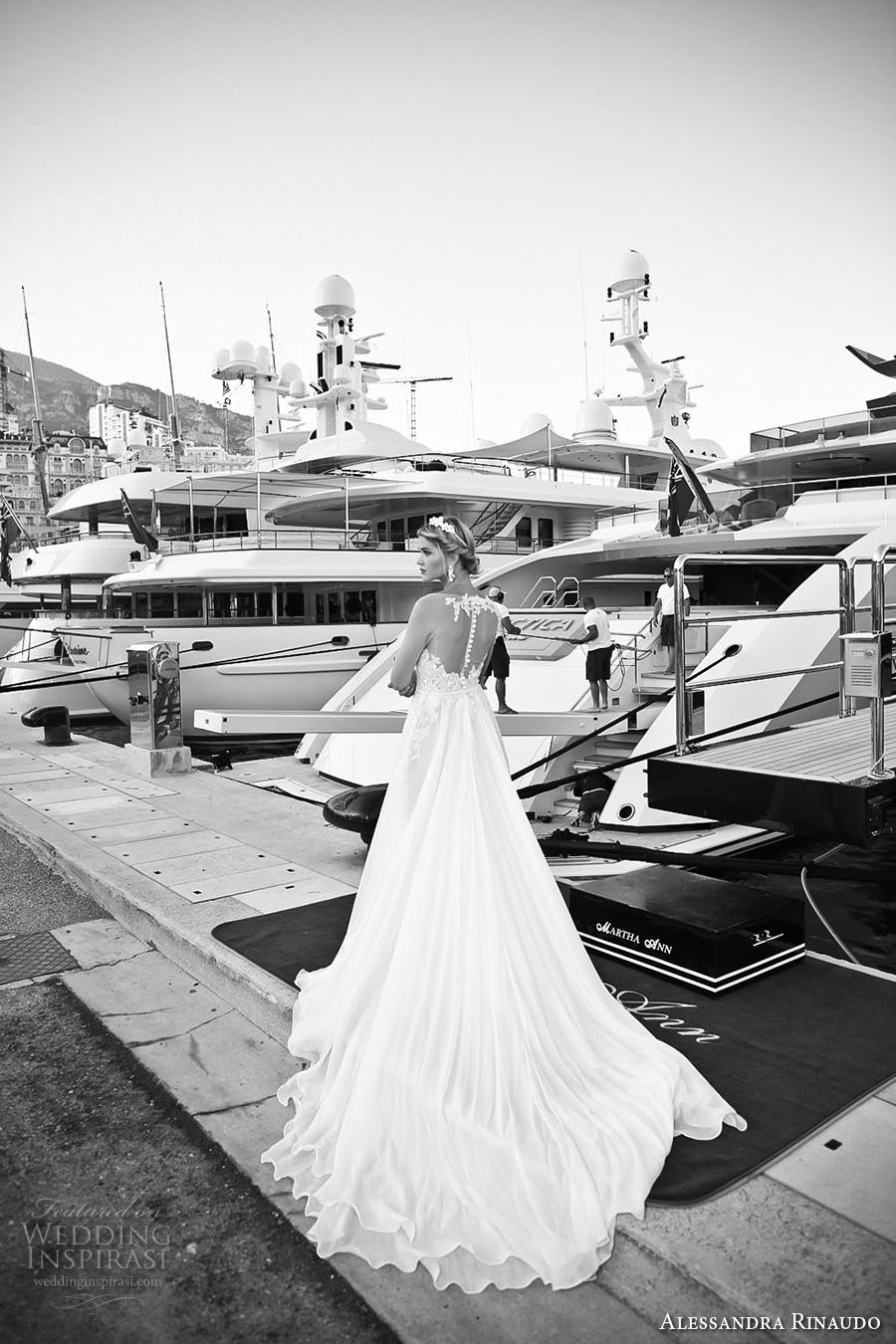 alessandra rinaudo 2017 bridal illusion long sleeves illusion boat neck v neck heavily embellished bodice sheer back long train (23) bv