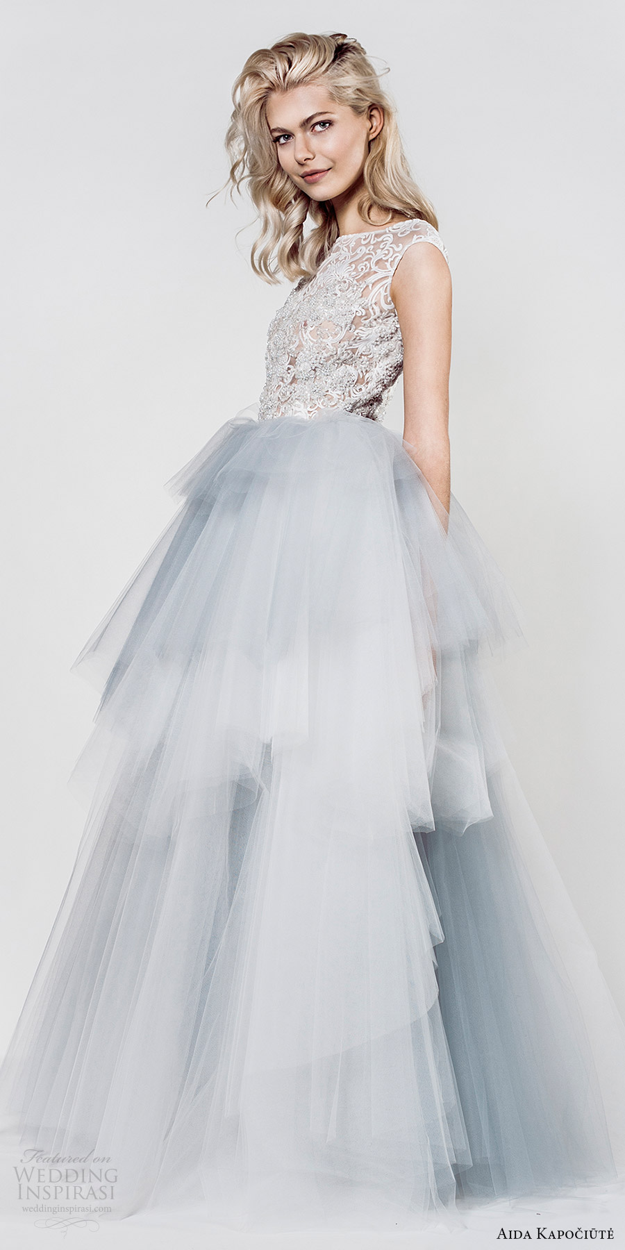 aida kapociute 2017 bridal sleeveless jewel neck lace bodice ball gown wedding dress (9) mv light blue color