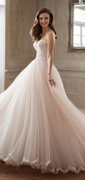 15 Regal Wedding Dresses Fit for a Royal Wedding   Wedding Inspirasi sophia tolli spring 2018 mon cheri bridals strapless sweetheart beaded lace  bodice ball gown wedding dress