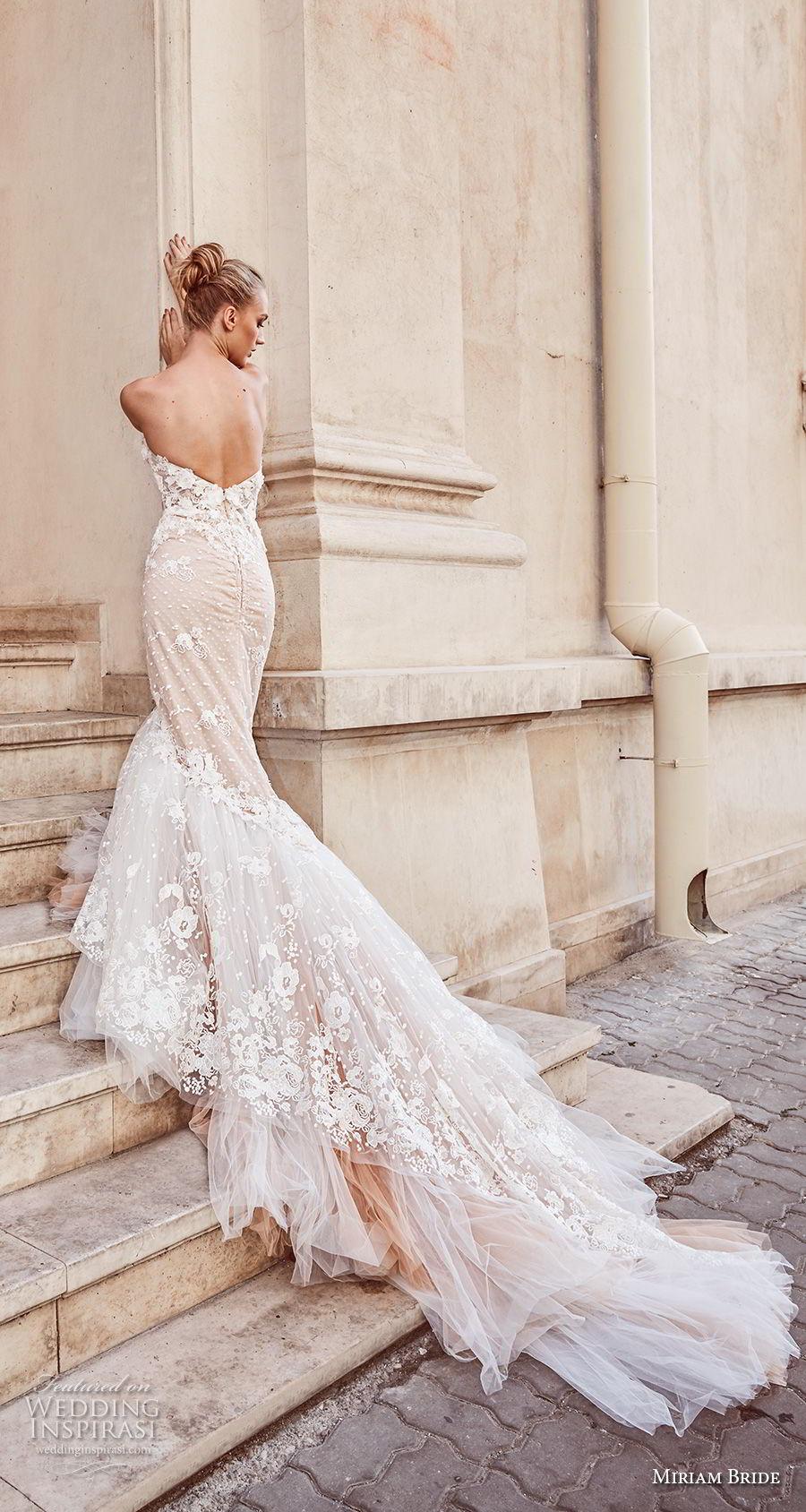 miriams bride 2018 bridal strapless sweetheart neckline full embellishment bustier elegant sexy mermaid wedding dress royal train (3) bv