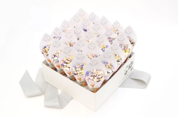 Cottage Garden Personalised Confetti Cone Shropshire Box with Summer Nights - £57