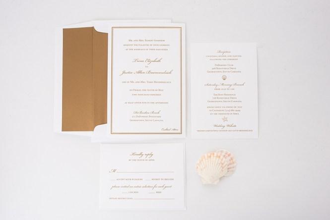 Trina Justin S Custom Beach Wedding Invitations Staccato