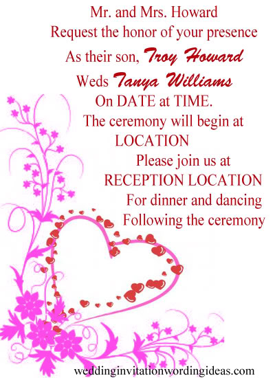 Evening Wedding Invitation Templates Wording Personalised Text New Source How To Write Out