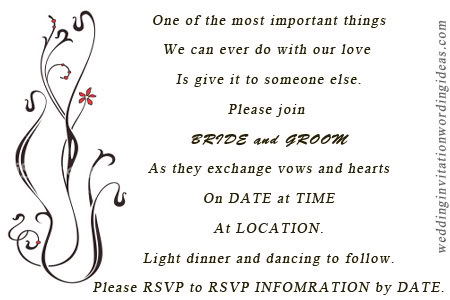 Casual Wedding Invitation Wordings