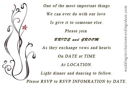 Ideas About Wedding Invitation Wording Exles On Invitations