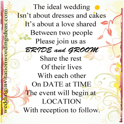 Informal Wedding Rsvp Wording Invitation Quotes