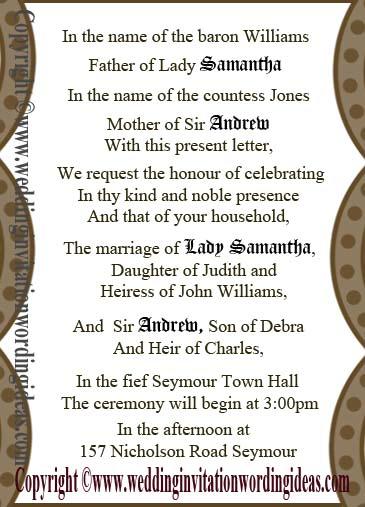 Wedding Invitation Wording Catholic Reference