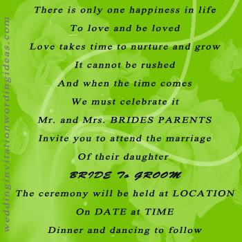 Wedding Invitation Wording Ecinvites Com