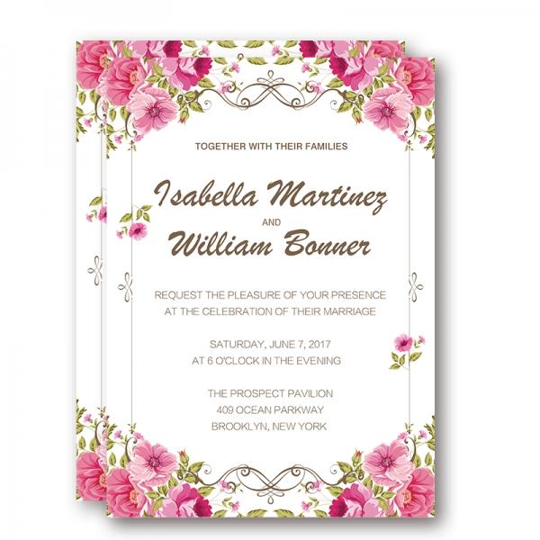 Blush Pink Fl Wedding Invitations Spring Summer Ideas Rustic Weddings Save The Date Wip032