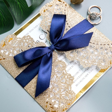 Wedding Invitations With Gold Foil Paper And
