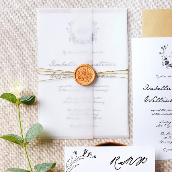 Minimalist Vellum Wedding Invites