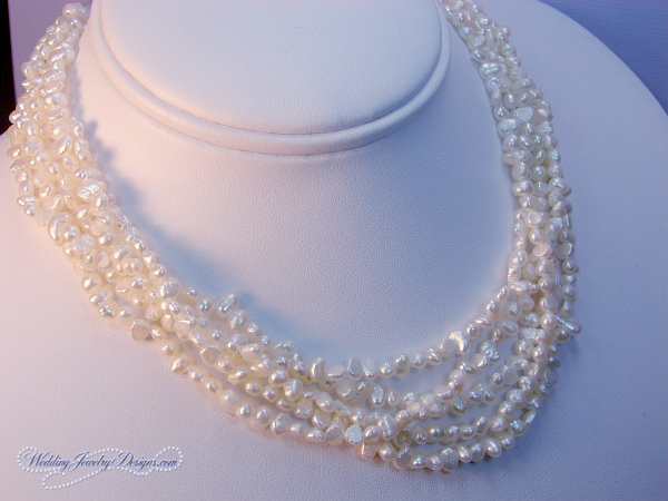Veronica Freshwater Pearl Bridesmaid Necklace Pearl