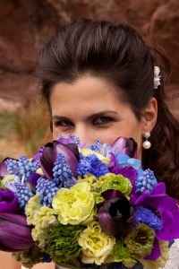 LDS Bride, Mormon Bride with Wedding Flowers