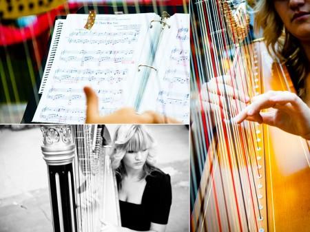 Live harp music for LDS weddings