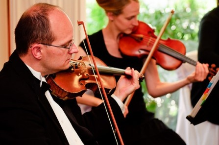 live string music for an LDS wedding
