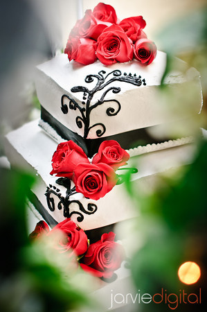 annivesary cake for LDS receptions