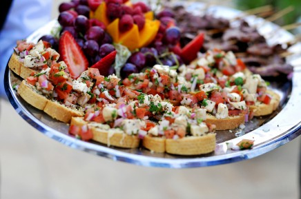 bruchetta appetizer for a wedding reception