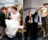 LDS groom's garter toss