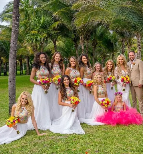 Stunning Crop Top Bridesmaids Outfits