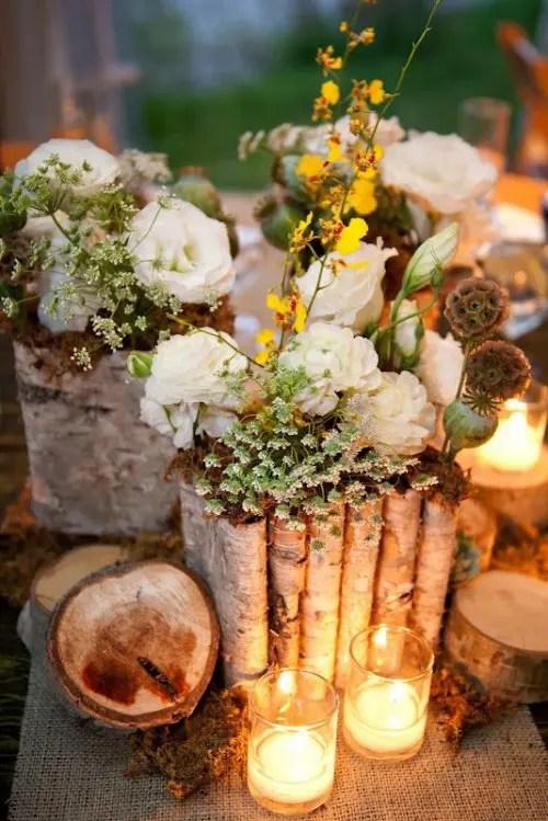 Woodland Wedding Centerpiece