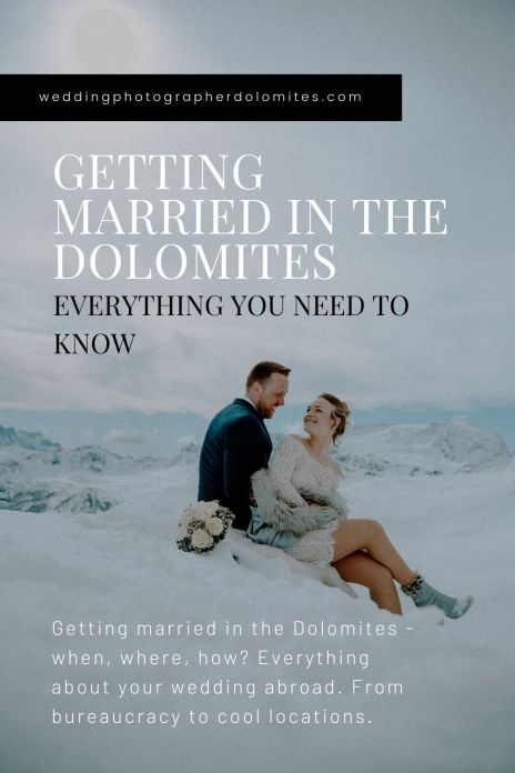 Getting Married In The Dolomites - Everything You Need To Know