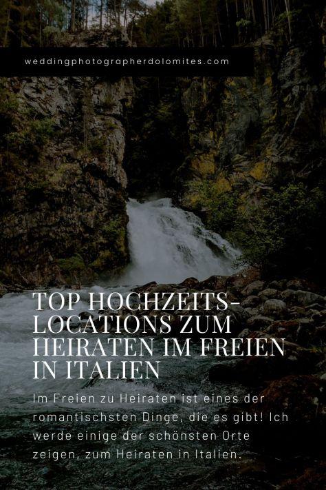 Top Hochzeitslocations Zum Heiraten Im Freien Hochzeit in Italien Reinbach Wasserfälle in Sand In Taufers Südtirol Italien