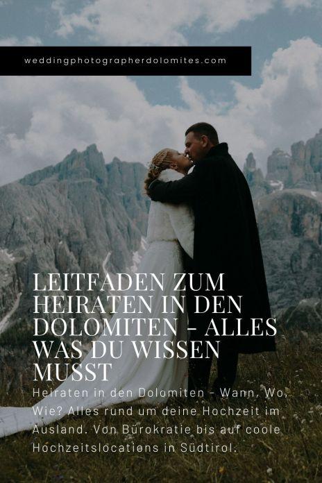 Leitfaden Zum Heiraten In Den Dolomiten - Alles Was Du Wissen Musst