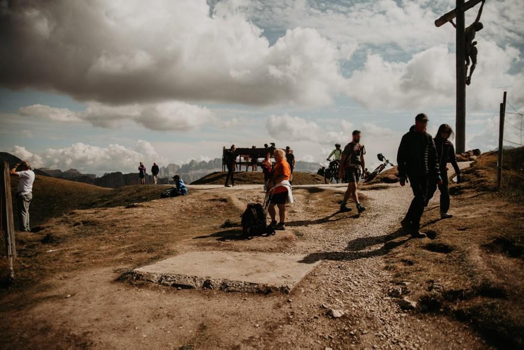 Seceda Tourists