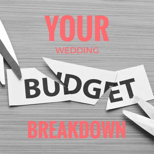 Your wedding budget breakdown