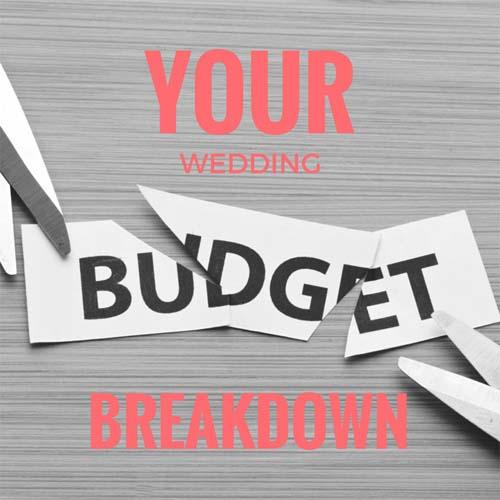 breakdown of your wedding costs